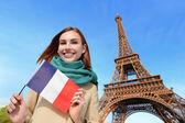 Fotografie Glückliche Frau in Paris