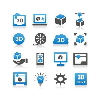 3D print icons, set