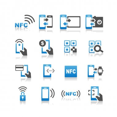 NFC technolgy icons set