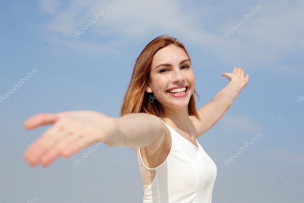 Woman enjoying nature