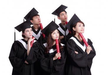 Students thinking about their future