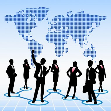 Global human resources concept