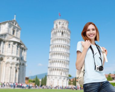 woman traveling  in Italy