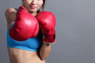 asian woman boxing