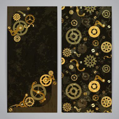 Flayer templates with steampunk decor