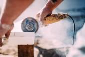 Fotografie nástroj pro průmyslové, ruční mlýnek na řezání mramoru
