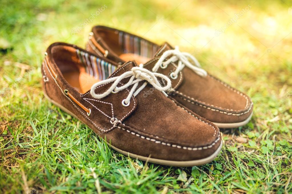 Modern brown leather <b>mens shoes</b>, elegant <b>summer</b> moccasins in ...