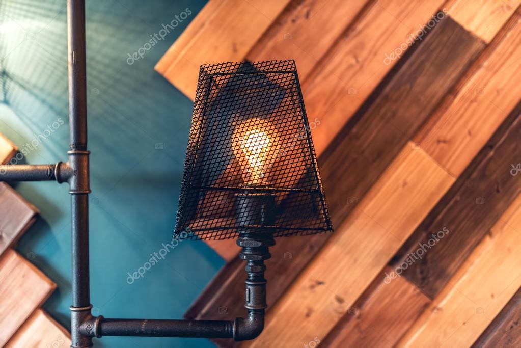 Interior design lampen wohnbereich mit mauern und details