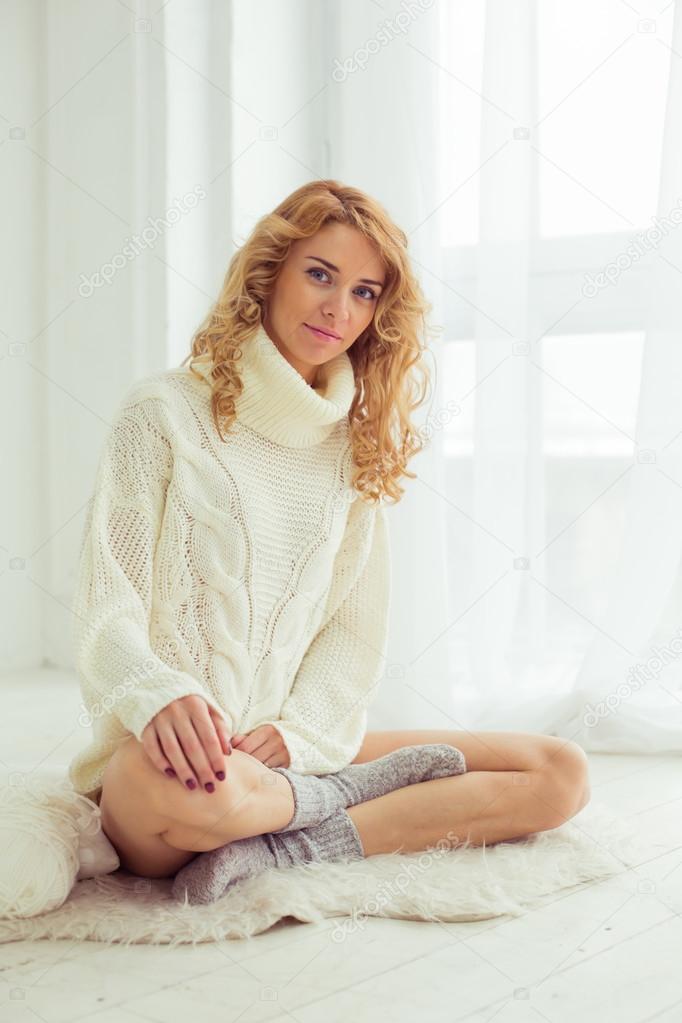 Sexy glamour girl lingerie models