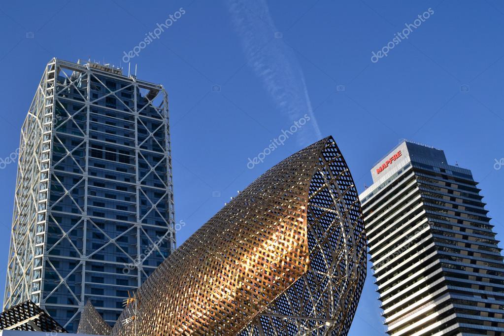 espaa de octubre rascacielos en la villa olmpica en barcelona espaa el de octubre de la villa olmpica se construy para los juegos
