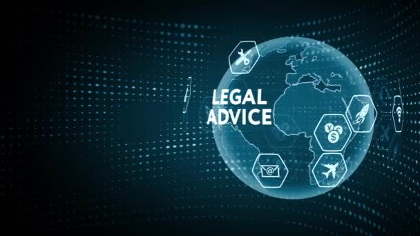 Business, Technology, Internet and network concept. Labor law, Lawyer, Attorney at law, Legal advice concept on virtual screen