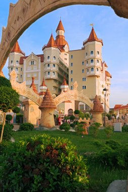 hotel complex Bogatyr styled medieval castle
