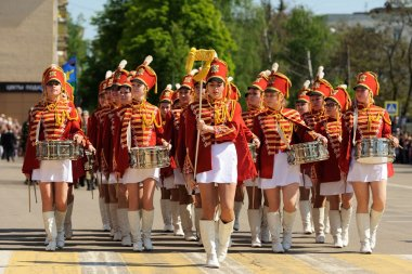 Orel, Russia - May 9, 2016: Celebration of 71th anniversary of the Victory Day (WWII)