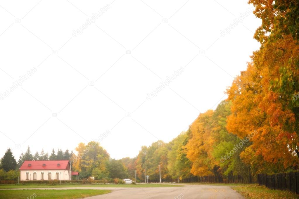 Golden autumn in Ivan Turgenev's estate Spasskoe-Lutovinovo