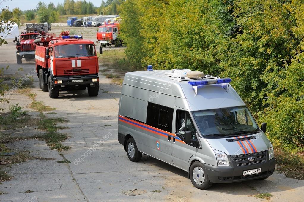Orel, Russia - August 28, 2015: Russian Emergency Control fire e