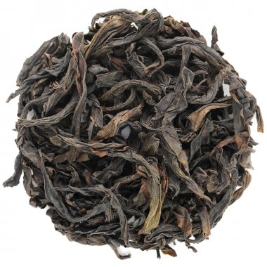 Rou Gui Wuyi Shan roasted oolong round shape isolated