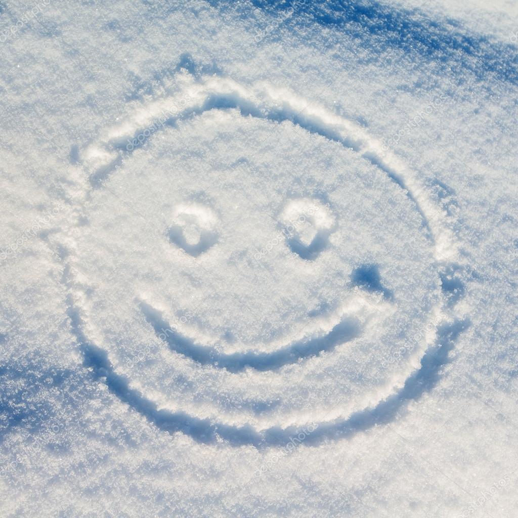 смайлики из снега картинки для этого