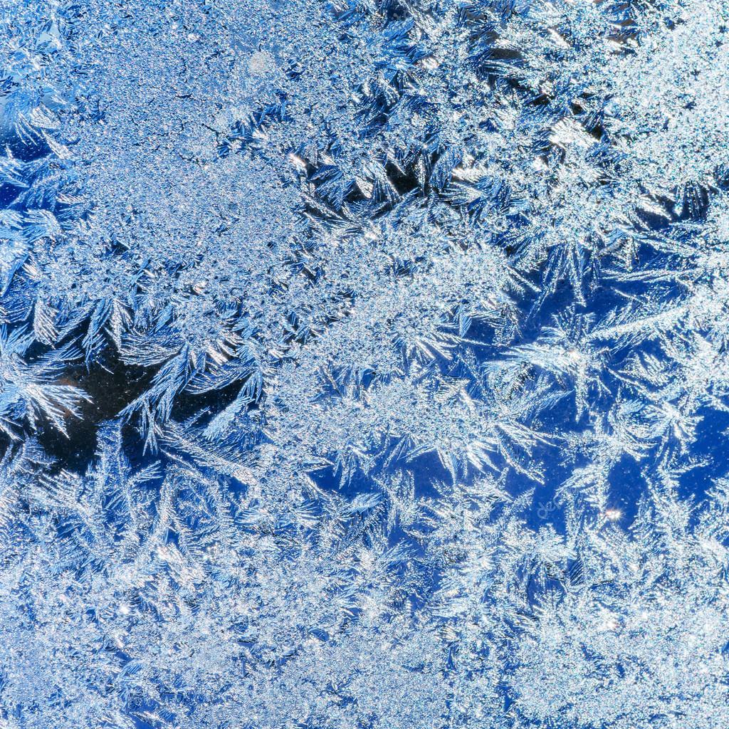 Eiskristalle Auf Eis