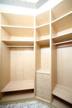 modern wardrobe in house or flat