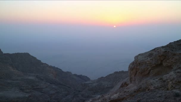 Sunset mountain in UAE