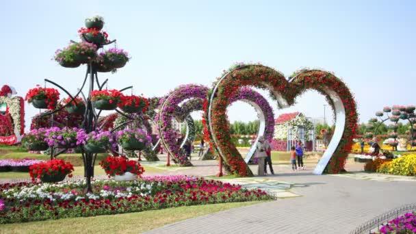 Blooming hearts  at Dubai miracle garden
