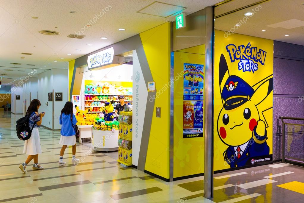 Asian Girls Walking Pokemon Store Narita Airport Stock Photo 117541236