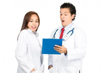 Exaggerated Male Female Doctors Team Records H