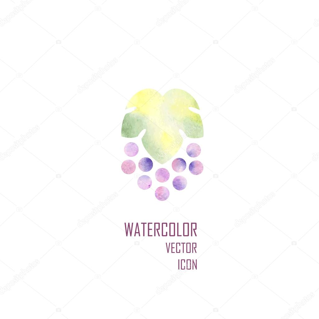 silhouette of grapes. Vector illustration.
