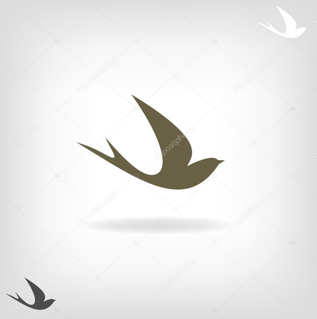 Stylized silhouette swallow