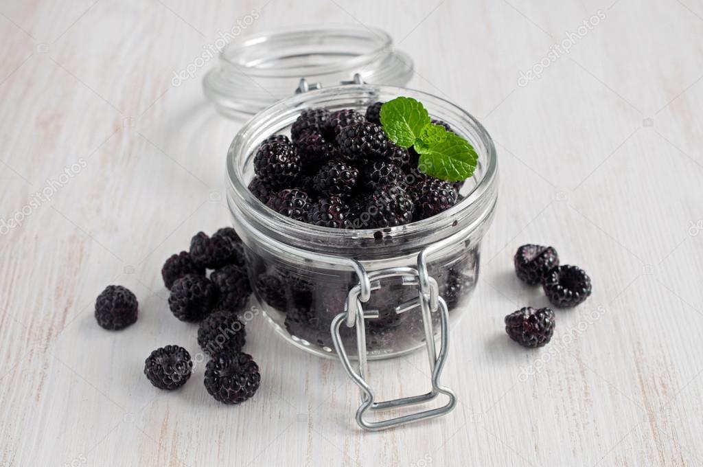 Image result for black raspberries on wooden table