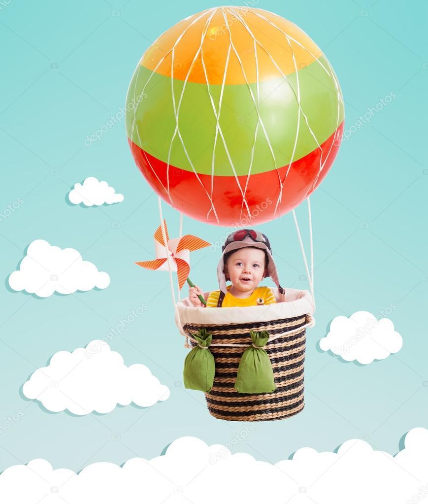 Воздушный шар и ребенок 19