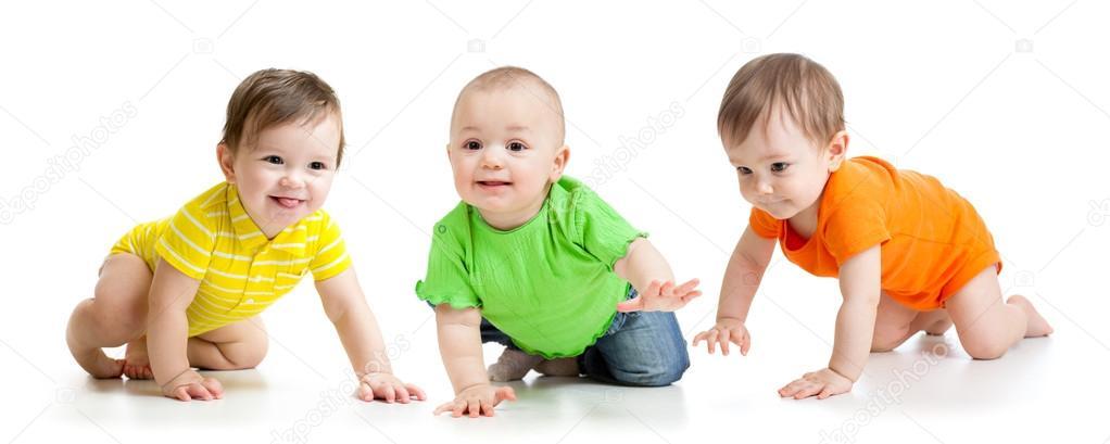 Graciosos Bebés Gateando
