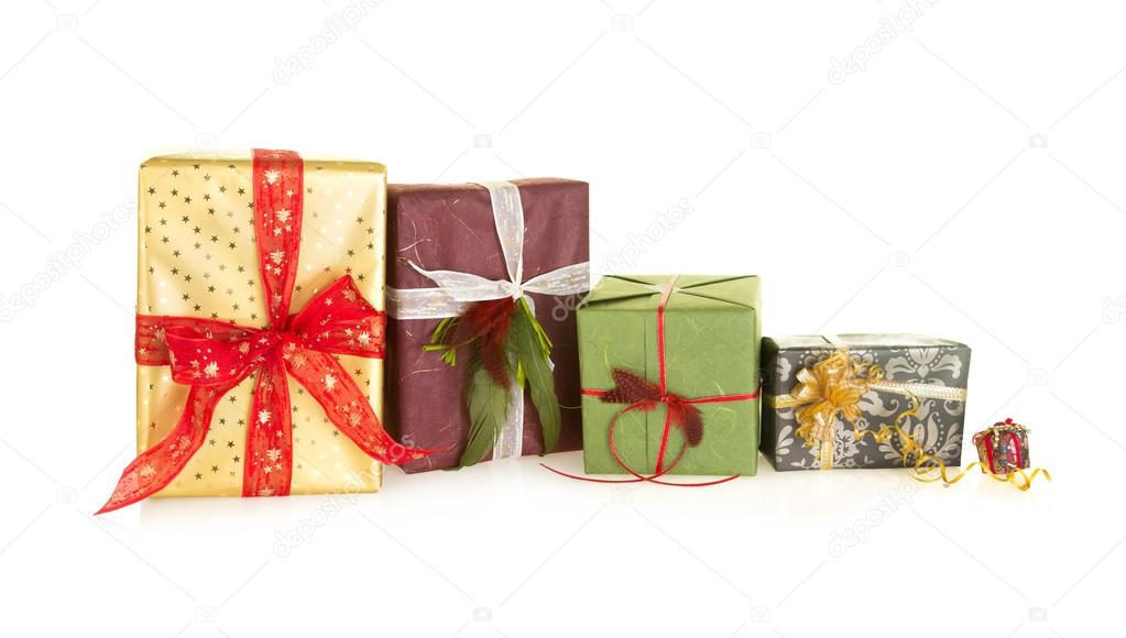 große und kleine Weihnachtsgeschenke — Stockfoto © Klanneke #52742301