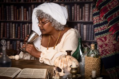 Alchemist with chalice