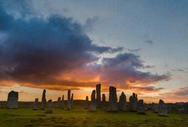 Sunset with Stone circle