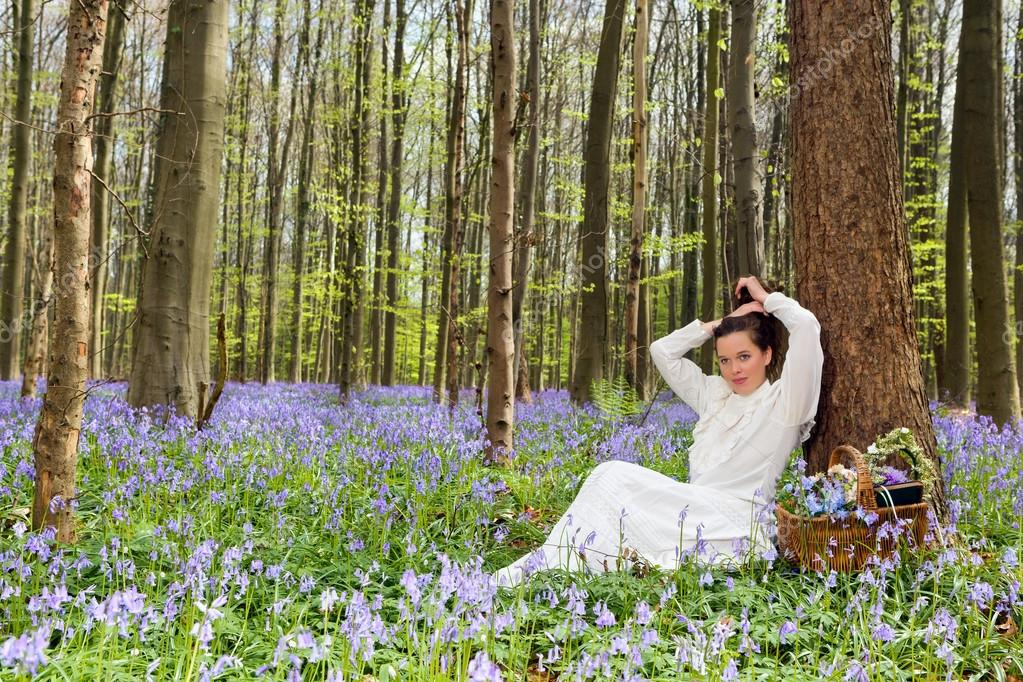 Beauty in bluebells forest