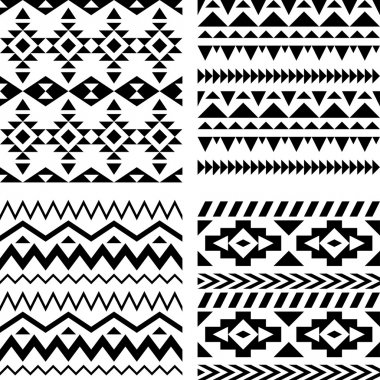 Geometric aztec patterns