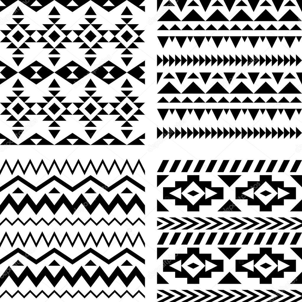 Geometric aztec patterns