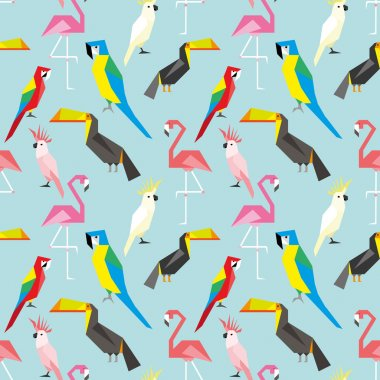 pattern with geometric birds