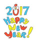 Nový rok kreslené písmo