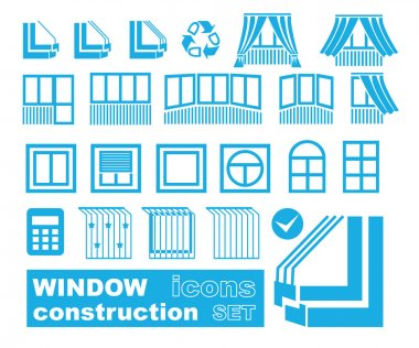 set of window variations icons
