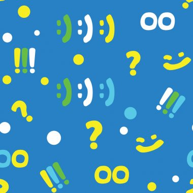 pattern with punctuation marks and smileys