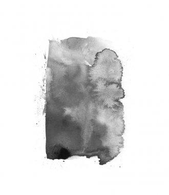 Black blot watercolor isolated stroke brush for art design