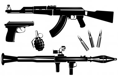 Set of firearms
