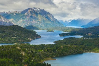 Nahuel Huapi national park from Cerro Campanario near Bariloche (Argentina)