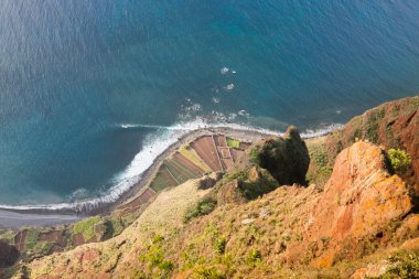View from the Cabo Girao cliff in Madeira island, Portugal