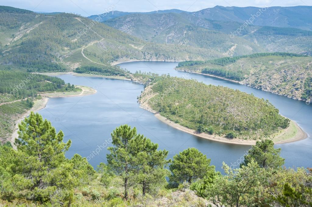 Meander of the Alagon River, Extremadura (Spain)