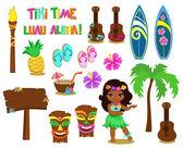 Fotografie Vektor-Illustration Hawaiian Sammlung