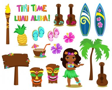 Vector illustration Hawaiian Collection.