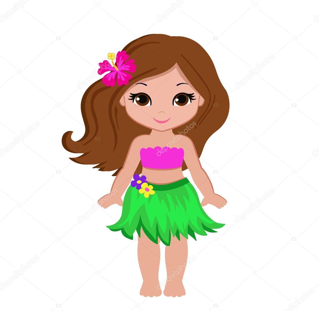 Chica linda de la historieta en traje tradicional